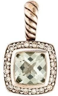David Yurman Prasiolite & Diamond Petite Albion Pendant