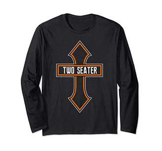 Two Seater Shirts For Men 2 Seater Joke Funny TWO SEATER Long Sleeve T-Shirt