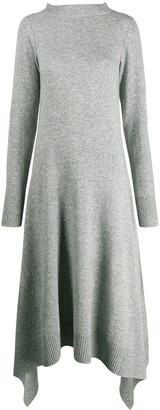 Sacai asymmetric hem dress