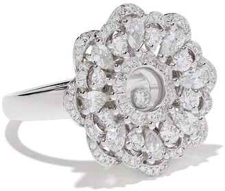 Chopard 18kt white gold Happy Precious ring