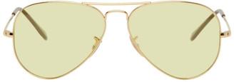Ray-Ban Gold and Yellow Evolve Aviator Sunglasses