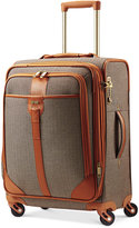 """Hartmann Herringbone Luxe 21"""" Expandable Carry On Spinner Suitcase"""