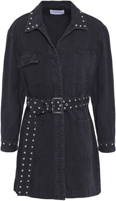 Current/Elliott Belted Studded Denim Mini Dress