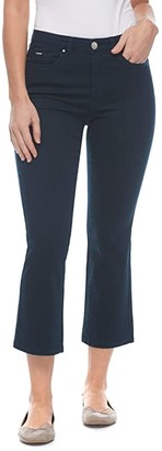 FDJ French Dressing Jeans Sunset Hues Denim Olivia Flare Crop in Navy (Navy) Women's Jeans
