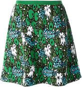 Balenciaga floral flared skirt