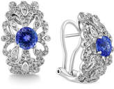 Effy Tanzanite Royalé by Tanzanite (1-3/4 ct. t.w.) and Diamond (5/8 ct. t.w.) Earrings in 14k White Gold