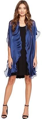 Lauren Ralph Lauren Penelope Ruffle Wrap (Blue Night) Women's Clothing