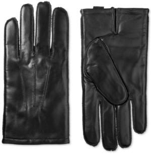 Isotoner Signature Men's ThermaFlex Leather Gloves
