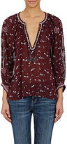 Ulla Johnson WOMEN'S EMBROIDERED CHIFFON LIDA BLOUSE