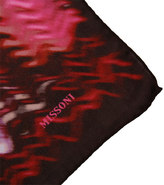 Missoni Accessories Red and Pink Blurred Wave Scarf