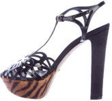Sergio Rossi Cutout Platform Sandals