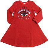 Kenzo Embroidered Eye Cotton Sweatshirt Dress