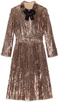 Gucci Sequin with crystal embroidered dress