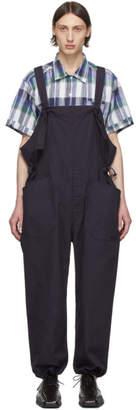 Engineered Garments Navy Cotton Overalls