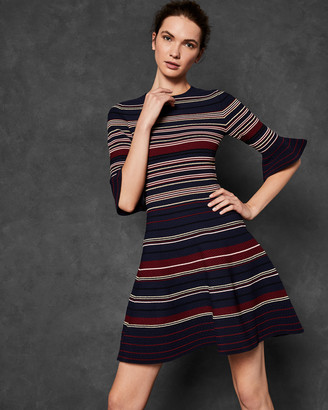 Ted Baker TAYINY Striped Ottoman dress