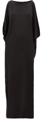 Thea - The Kleio Bateau-neck Silk-georgette Maxi Dress - Black