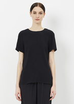 Proenza Schouler black short sleeve back knot top