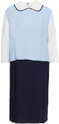 Marni Color-block Crepe De Chine Dress