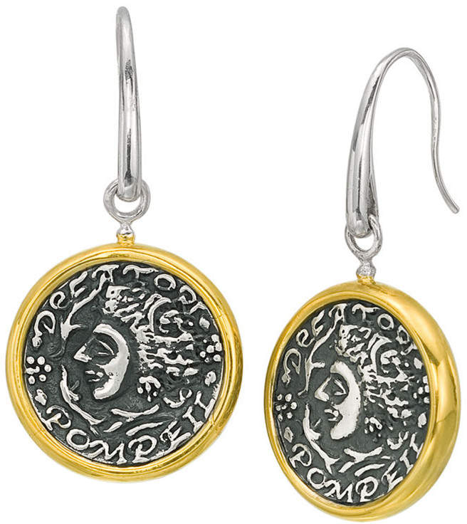 Alor Delatori by Delatori By 18K Over Silver Coin Drop Earrings