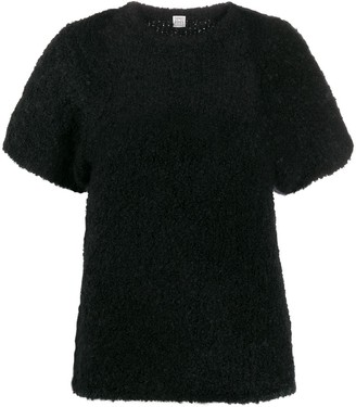 Totême textured slim-fit knitted top