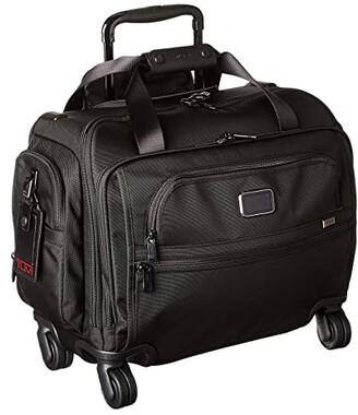 Tumi Alpha 3 Compact 4 Wheeled Duffel (Black) Luggage