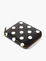 Comme Des Garcons Wallet Black Polka-dot Leather Wallet