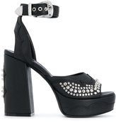 McQ studded buckle strap pumps