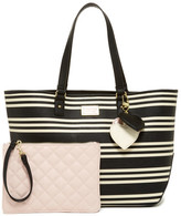 Betsey Johnson Iconic Patches Tote with Pouch
