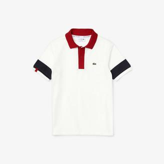 Lacoste Boys' Made in France Pique Effect Cotton Polo Shirt