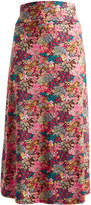 Glam Pink & Teal Floral Maxi Skirt - Plus