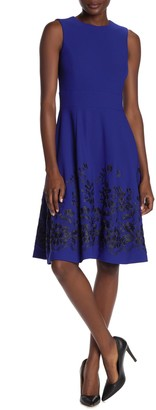 Calvin Klein Floral Embroidered Midi Dress
