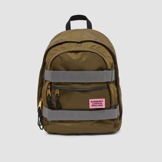 Burberry Medium Leather Trim ECONYL Nevis Backpack