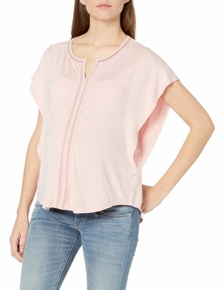 Everly Grey Women's Nelly Maternity and Nursing Flutter Sleeve Top