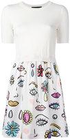 Moschino multi printed dress - women - Cotton/Virgin Wool - 40