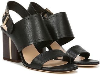 Via Spiga Wrapped Heel Leather City Sandals - Harriett