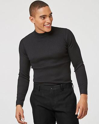 Le Château Rib Knit Turtleneck Sweater