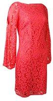 Adrianna Papell Women's 3/4 Sleeve Cutout Lace Dress