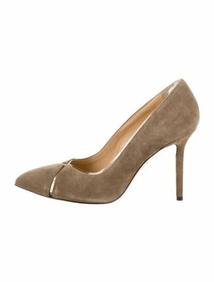 Charlotte Olympia Suede Pointed-Toe Pumps w/ Tags