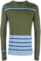 Fendi striped jumper - men - Cotton/Viscose - 48