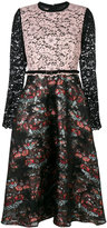 Antonio Marras floral lace panel dress - women - Silk/Cotton/Polyamide/Viscose - 42