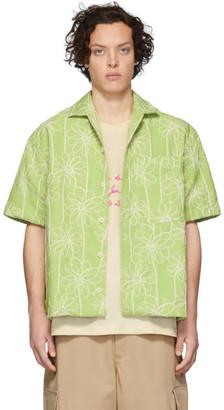 Jacquemus Green La Chemise Jean Short Sleeve Shirt