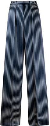 Rokh Striped-Print Palazzo Trousers