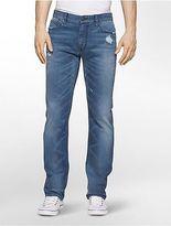 Calvin Klein Mens Slim Leg Monza Medium Blue Jeans Monza 40w X 32l