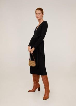 MANGO Pleated skirt dress black - 4 - Women