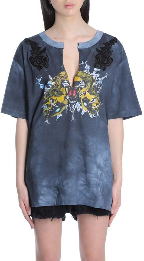 Amen Ams18248 Printed T-shirt In Tie Dye Jers607