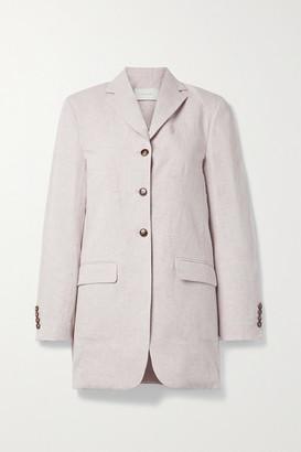 Low Classic Cotton And Linen-blend Blazer - Lilac