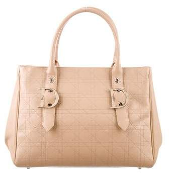 Christian Dior Cannage Leather Tote