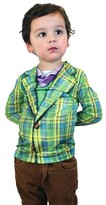 Faux Real Boys' Plaid Suit Tee Costume Green Costume