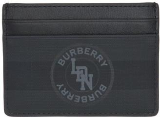 Burberry Black London Check Sandon Card Holder