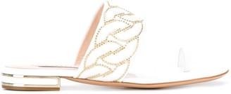 Casadei Catenassé embellished flat sandals